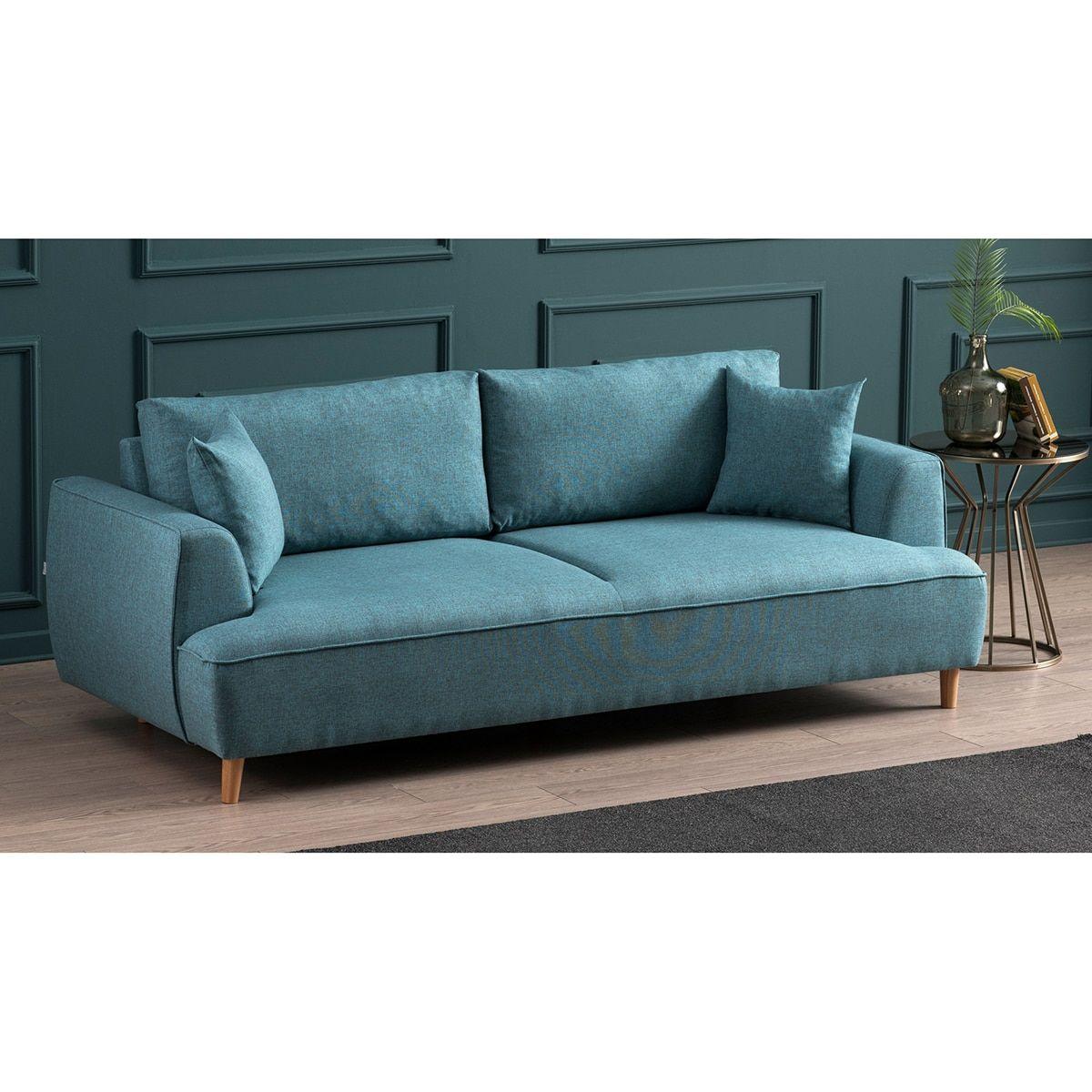 Canape Felix Bleu Turquoise Atelier Del Sofa En 2020 Canape Turquoise Bleu Turquoise Canape