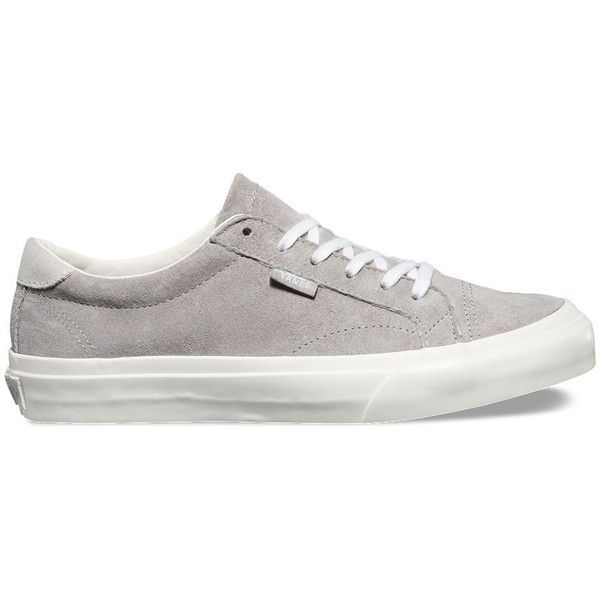 Vans Pig Suede Court DX ($65) ❤ liked on Polyvore featuring shoes, pumps, grey, vans footwear, grey pumps, tennis shoes, long shoes and gray shoes