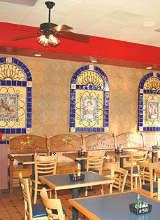 Tiles And Decor Las Fajitas Restaurant Wall Decor Using Mexican Tiles