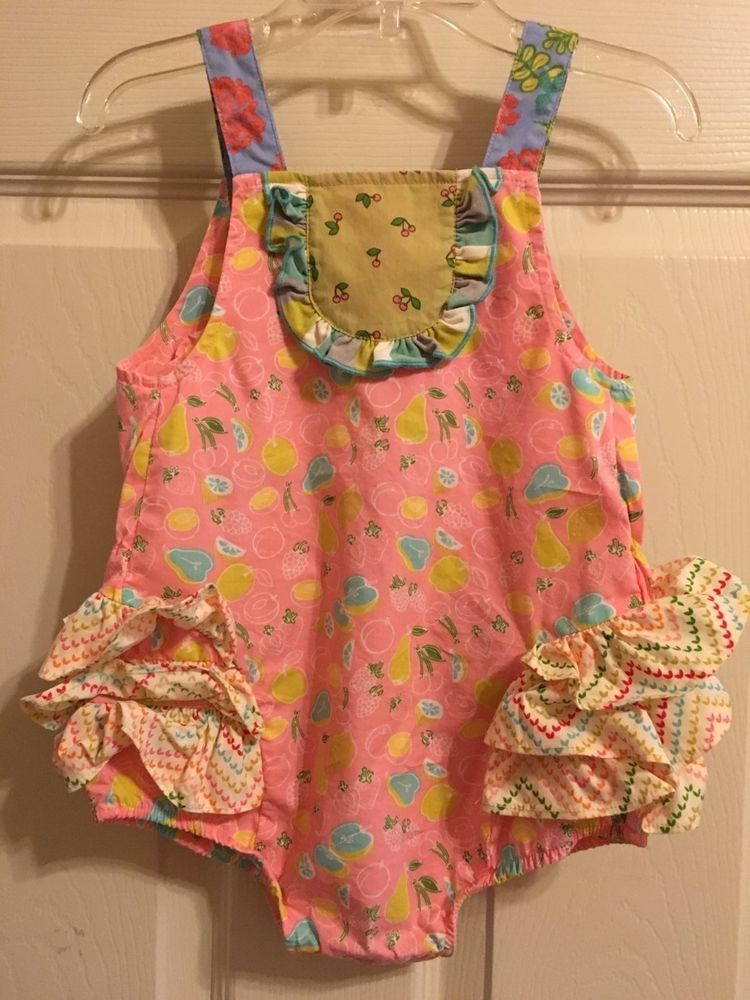 aeb42f1b5e16  MATILDA JANE  Little Lemon EUC Bubble Romper Size 6M  MatildaJane   DressyEveryday