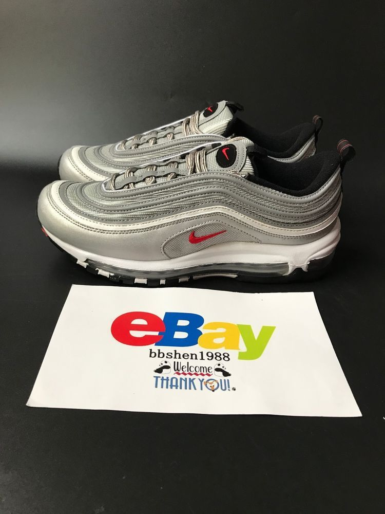 on sale 4df6f cab69 Nike Air Max 97 OG QS Silver Bullet 884421-001 Metallic SilverVarsity Red  Nike AthleticSneakers