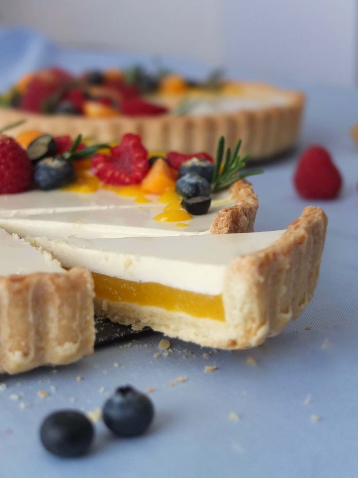 Photo of Mango tart with rosemary panna cotta – la crema