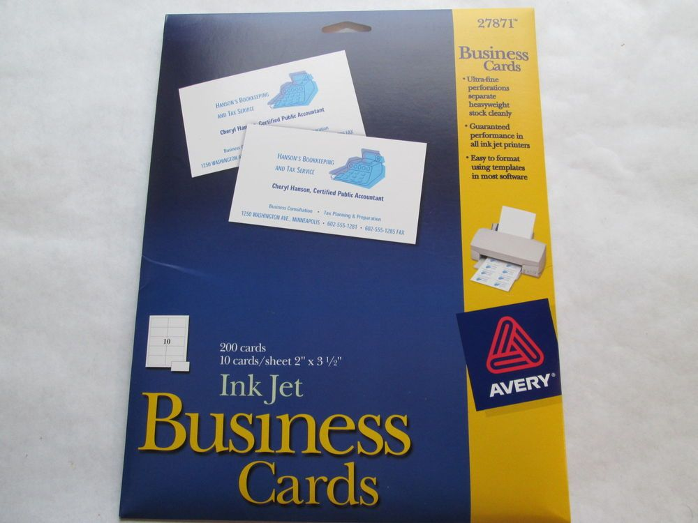 Avery Heavyweight Business Cards | Best Business Cards