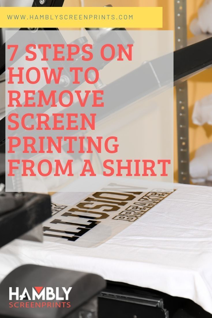 How to remove screen printing from a shirt screen