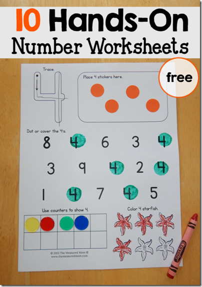 FREE Number Worksheets | Free printable numbers, Kindergarten age ...