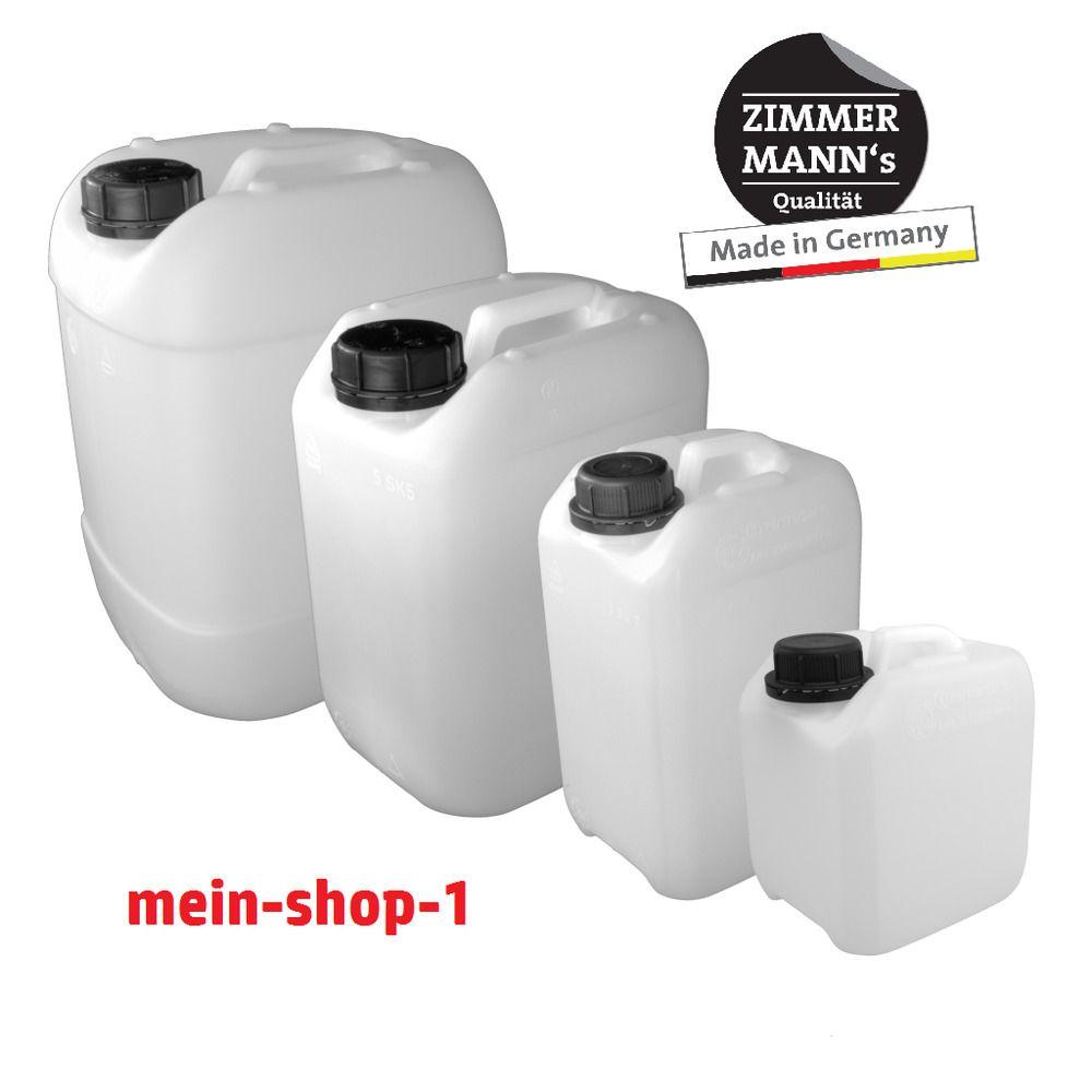 Kunststoffkanister 2 5 5 10 25 L Mit Deckel Schwarz Hdpe