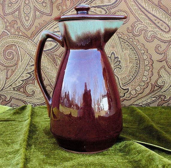 Mid 20th Century Ceramic Tea Pot Carafe Server by TridentsTreasure, $15.00