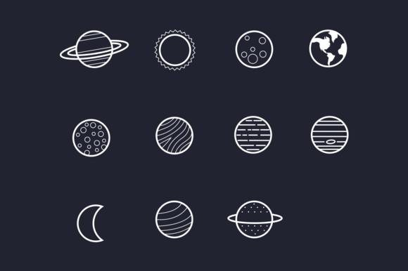 11 Solar System Planet Icons Solar System Tattoo Planet Icon Solar System Planets