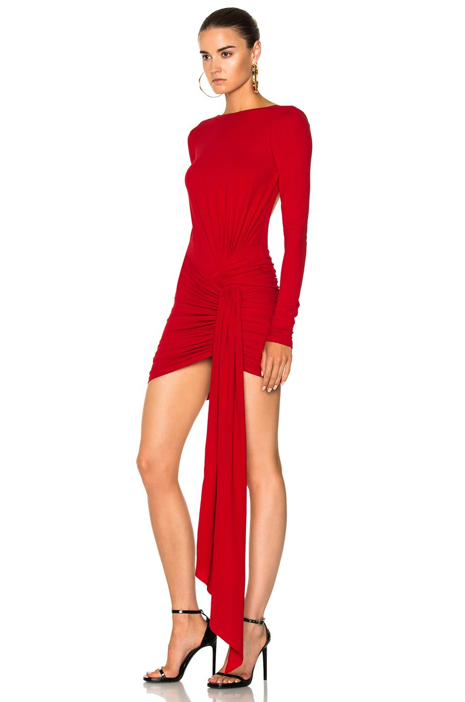 Image of alexandre vauthier stretch jersey open back mini dress in