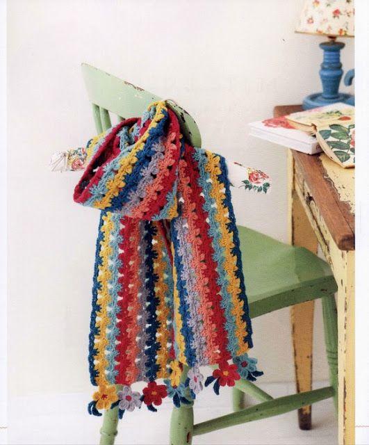 Patron #1346: Bufanda a Crochdet | CTejidas [Crochet y Dos Agujas ...