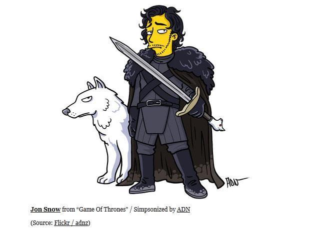 Resultado de imagen para game of thrones al estilo simpsons