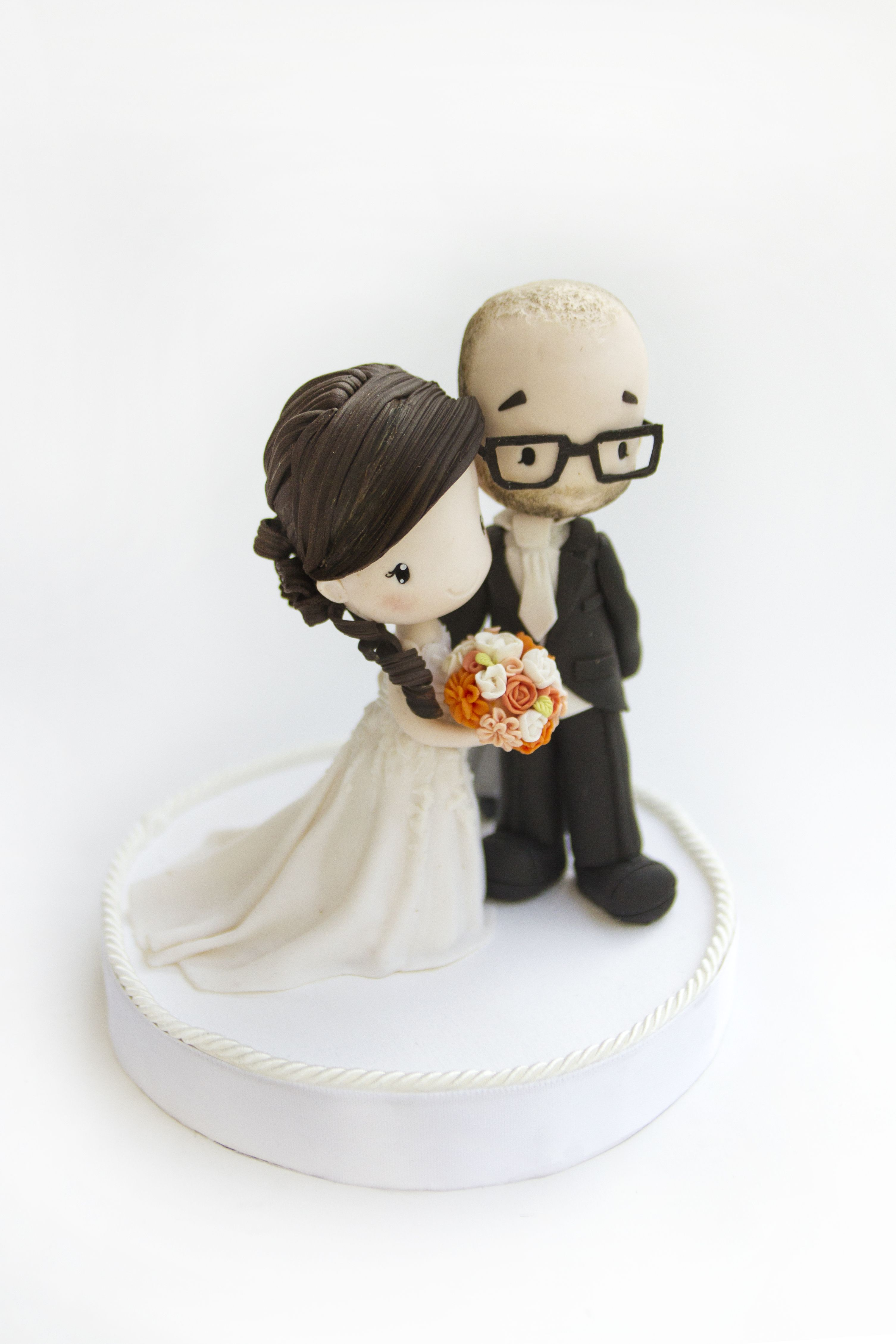Custom #Wedding #caketoppers - Polymer clay #Handmade dolls ...