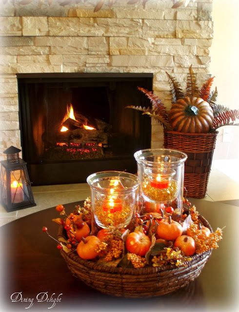 Dining Delight Fall Coffee Table Centerpiece Fall Pinterest