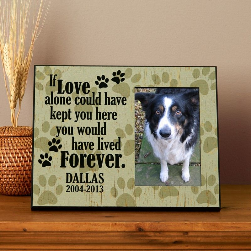 love alone pet memorial frame personal creations