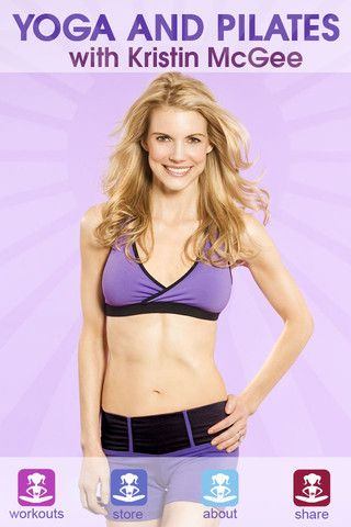 I love her....Yoga and Pilates with Kristin McGee anytime you want it. 10 min videos work great into a busy schedule.