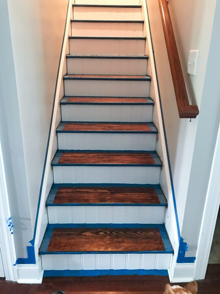 DIY Budget Stair Makeover : Kiss That Old Carpet G