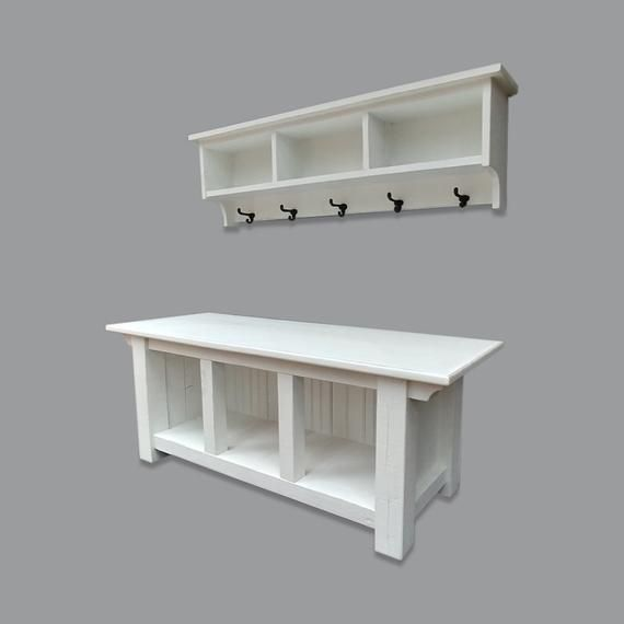 Farmhouse Cubby Storage Bench And Shelf Cubby Coat Rack Set White Cubby Storage Mudroom Storage Bench Bench With Storage