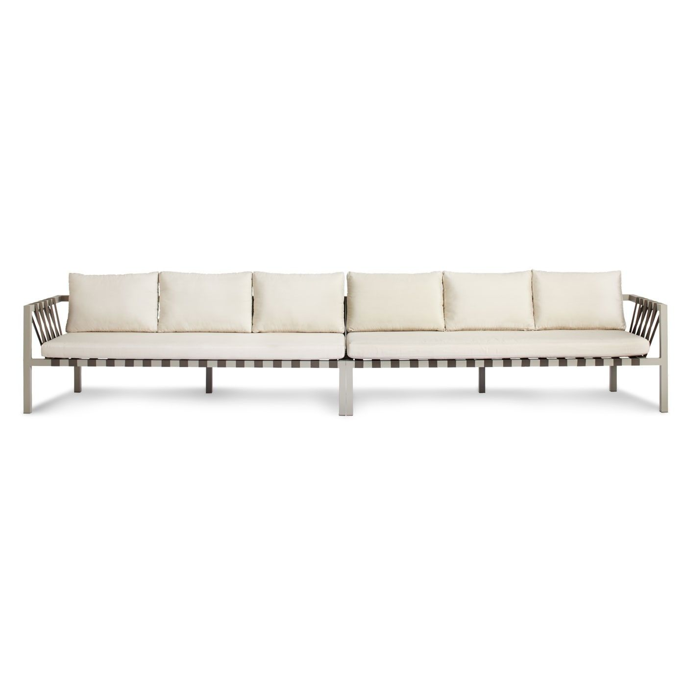 Madrid Taupe Beige Ultra Modern Living Room Furniture 3: Jibe Outdoor Extra Long Sectional Sofa