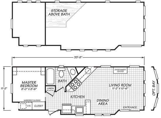 floor plans this is a 399 square foot luxurious park model tiny house by cavco called the 200 series whic - Tiny House Plans On Wheels