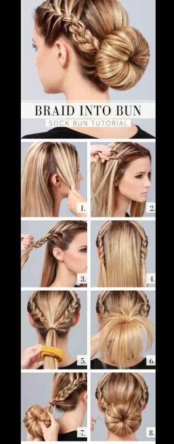 A super easy quick and cute hairstyle you can do yourself ...