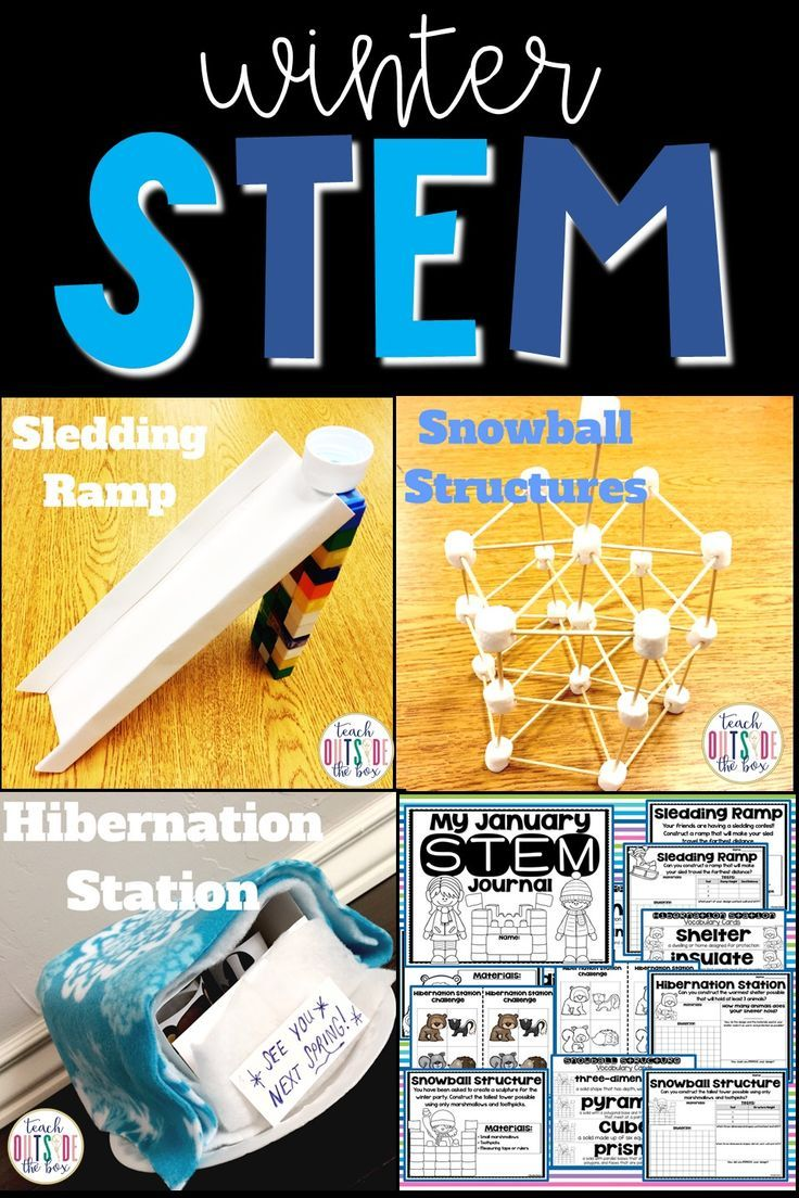 Winter STEM Challenges (January) #stemactivitieselementary