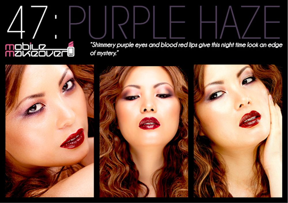 Purple Haze Postcard. Full how to step-by-step look is available in the Mobile Makeover App (www.mobile-makeov...) available now for iOS.