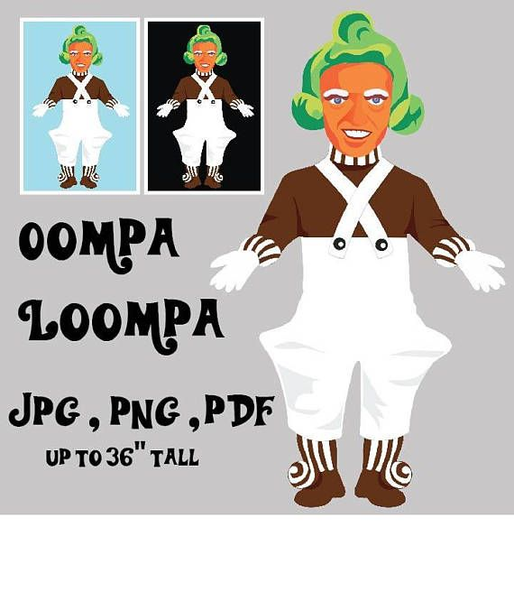 An Oompa Loompa image in three easy to use formats Jpeg for Web at ...