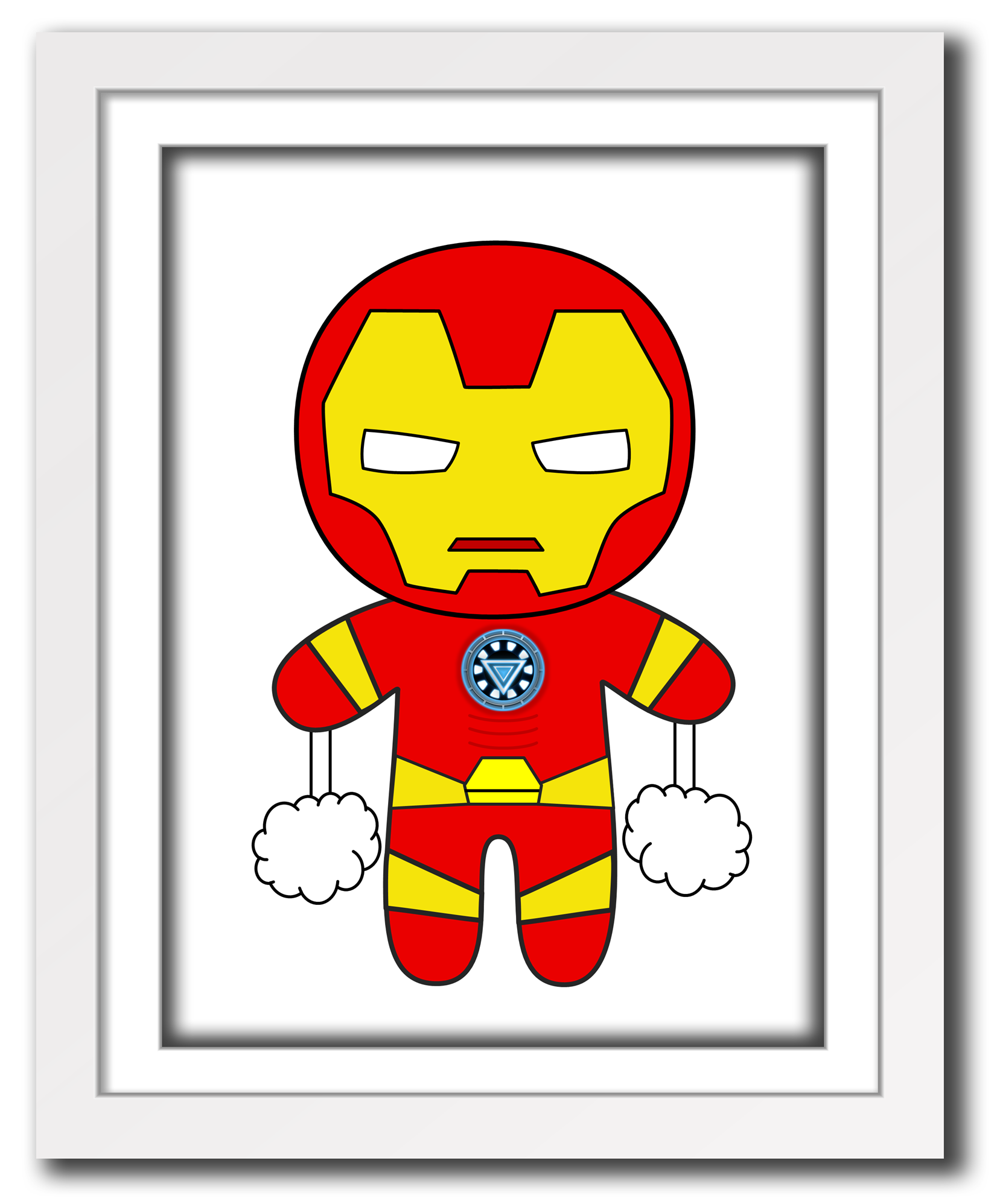 Superhero Art For Little Boys: Superhero Ironman Print For Little Boys Room,cute Little