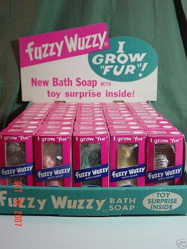 Fuzzy Wuzzy Soap - I Grow Fur..just what we needed..hairy soap