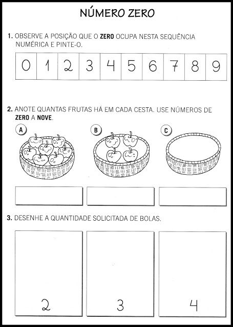 Atividades com números - 0 a 9 - SÓ ESCOLA | EDUCAÇÃO INFANTIL ...