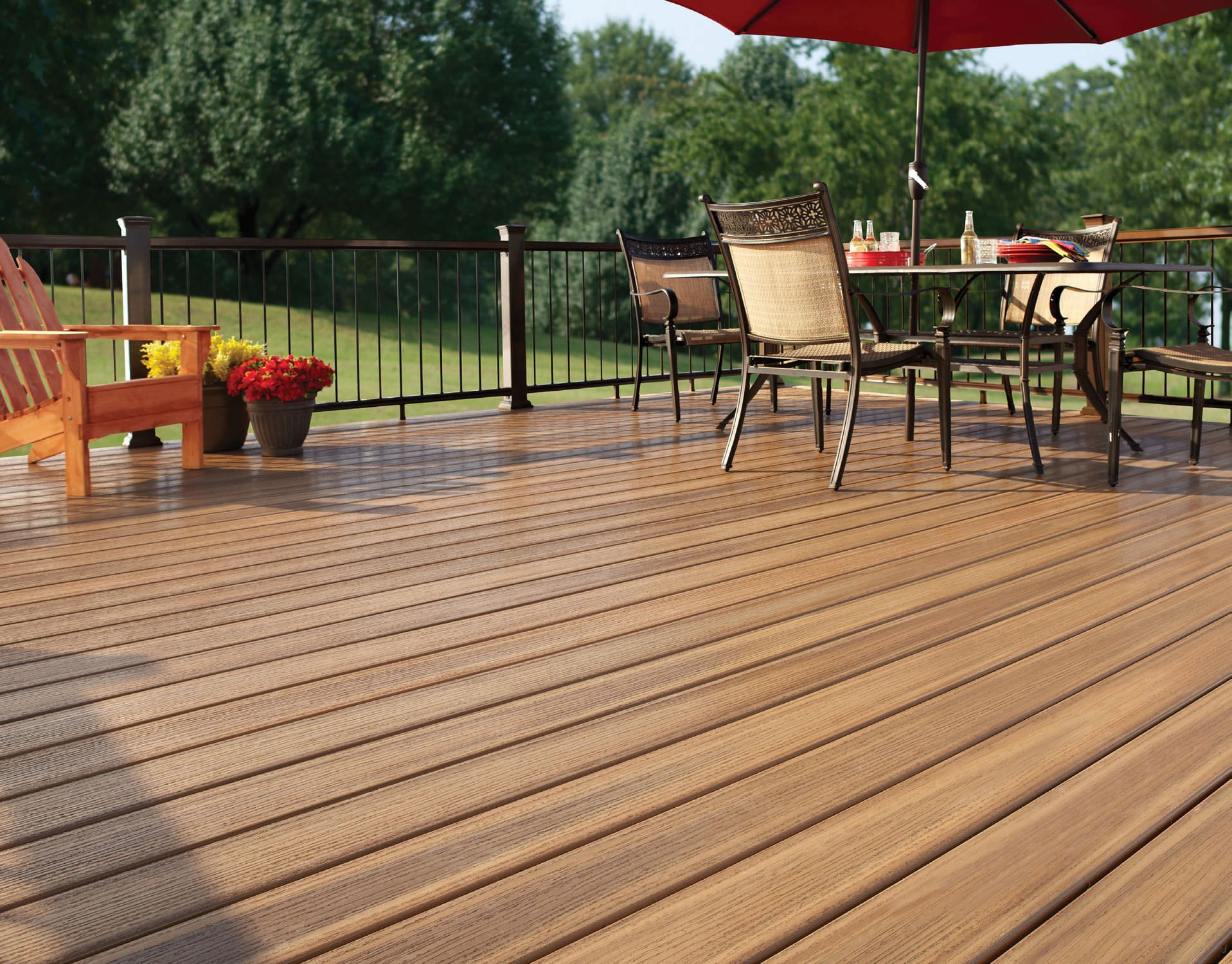 Cost Of Composite Decking Vs Wood Decking Wooden Balustrade Panels For Decks Pvc And Wood Deck Wood Type Building A Deck Deck Diy Deck
