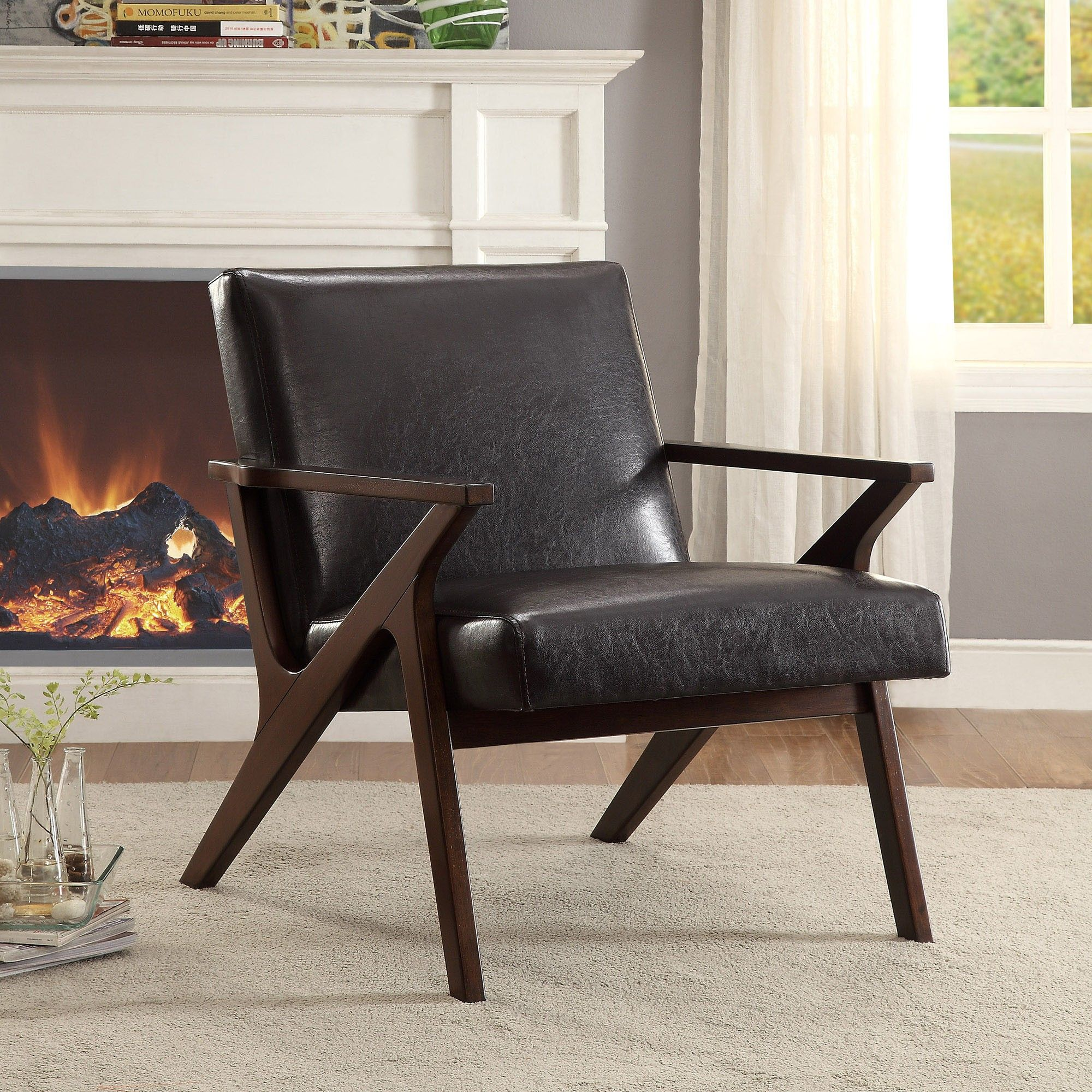 Leather accent chairs with arms - Leather Accent Chair Armless