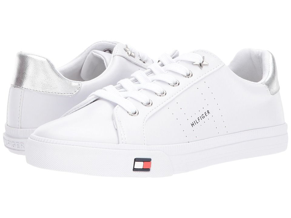 wholesale dealer d95c6 595b2 TOMMY HILFIGER TOMMY HILFIGER - LUSTERY (WHITE SILVER) WOMEN S SHOES.   tommyhilfiger  shoes