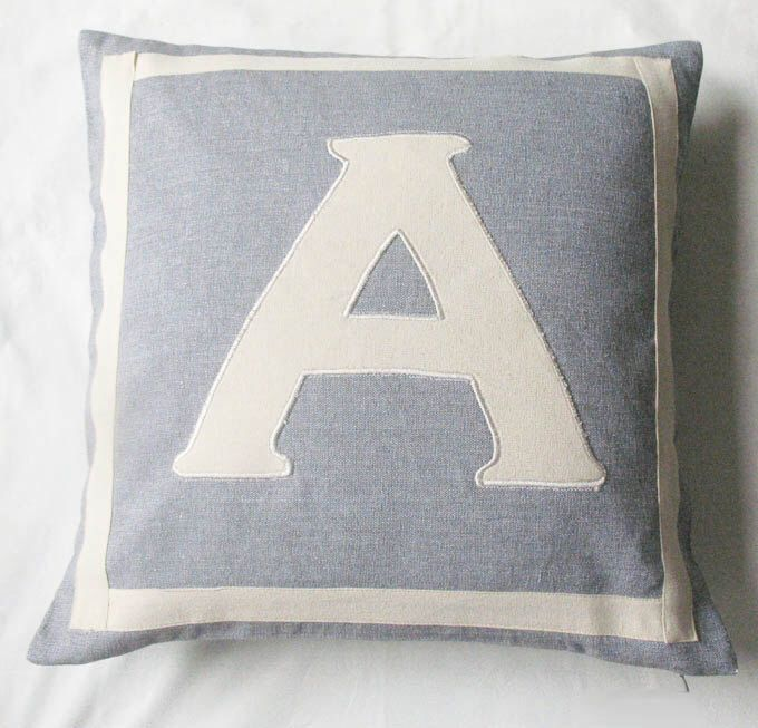 Initial Pillow Covers Gray Monogrammed Pillow Cover Customized And Personalized Letter