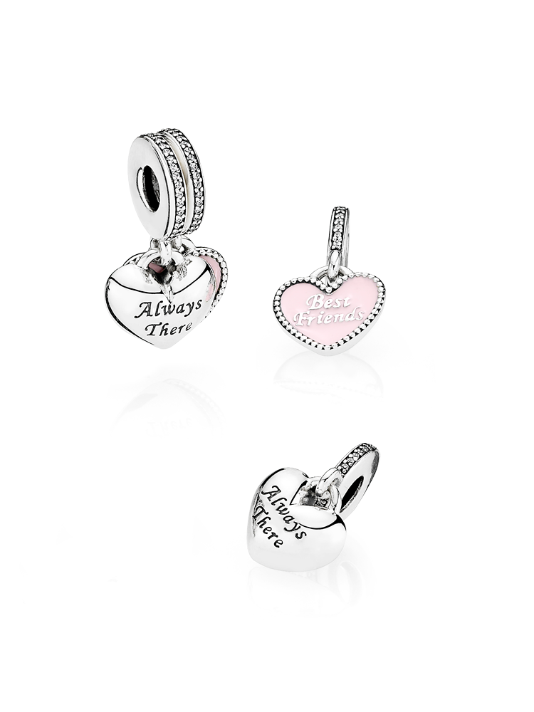 672b23ae0 Coming soon! This sweet split charm consists of two parts – one for you and  one for your best friend – joined together they form a lovely full heart.