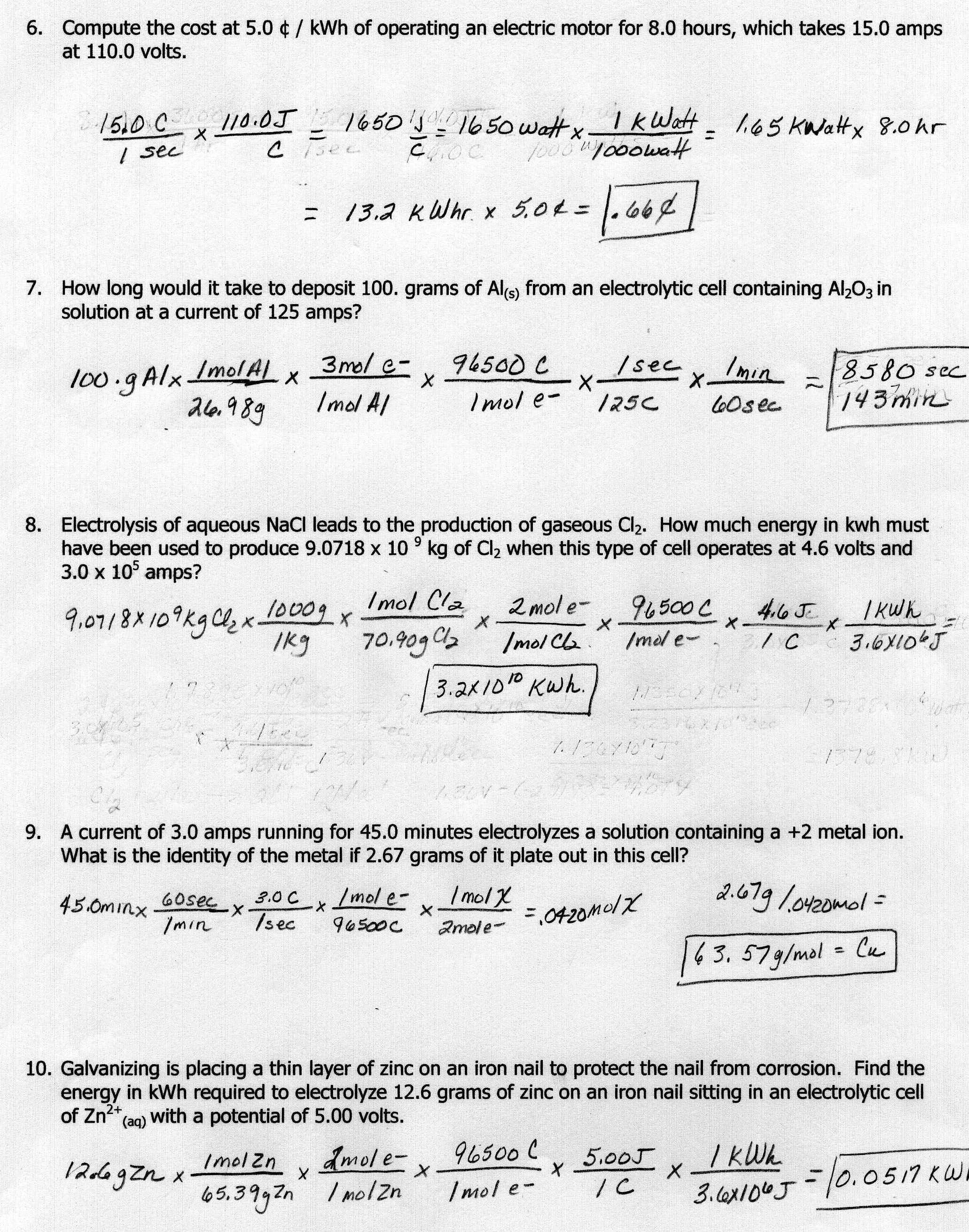 Worksheet Motion Problems Part 2 Answer Key Along With