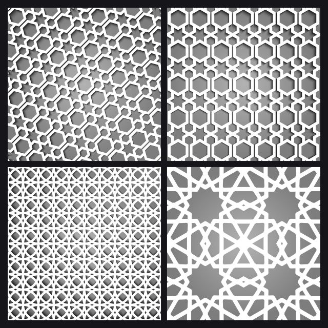 Islamic Moroccan Seamless Pattern And Background Set Arabic