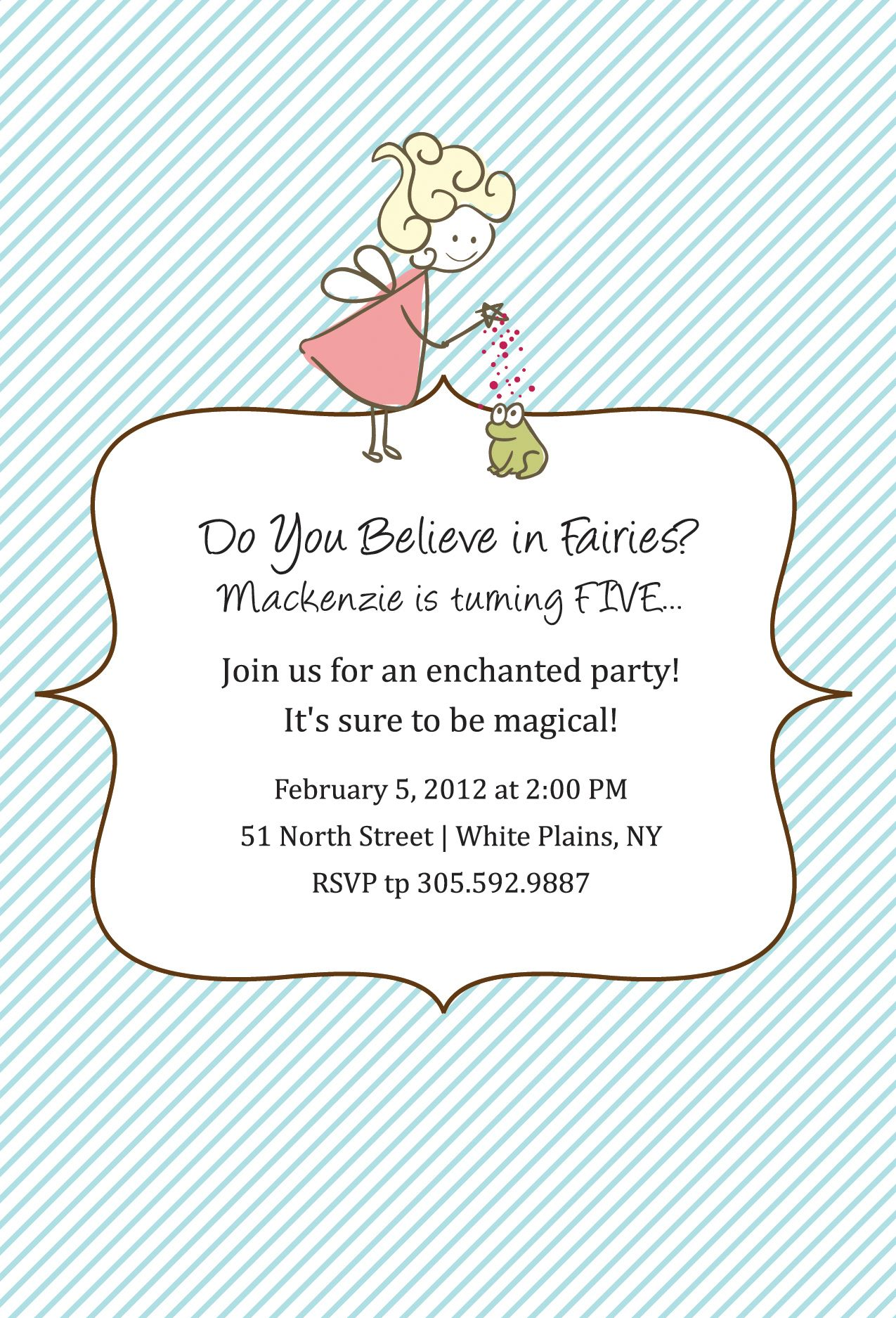 New Custom Label and Invite Set: A Fairy Party! | Kids party ideas ...