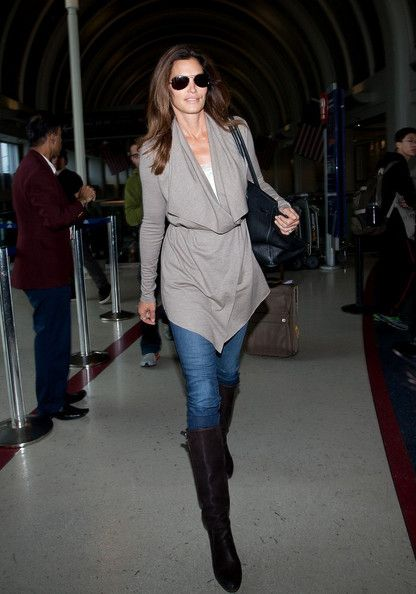 a654e1059a1 Cindy Crawford Knee High Boots | Style File | Fashion, Cindy ...