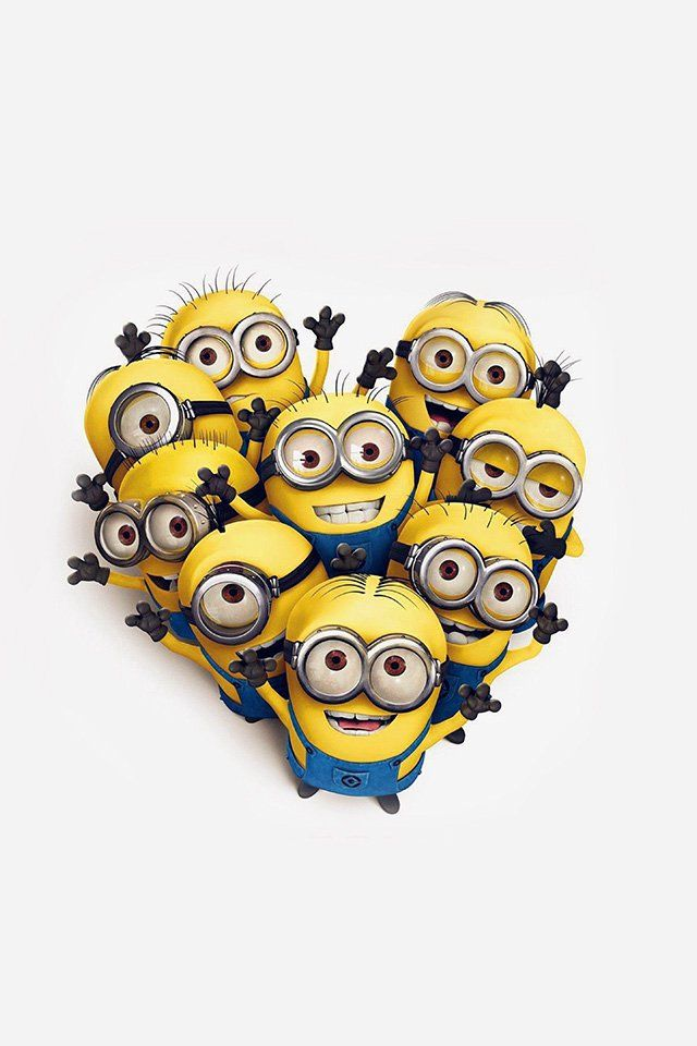 Minions Love Heart Cute Film Anime Art IPhone 4s Wallpaper