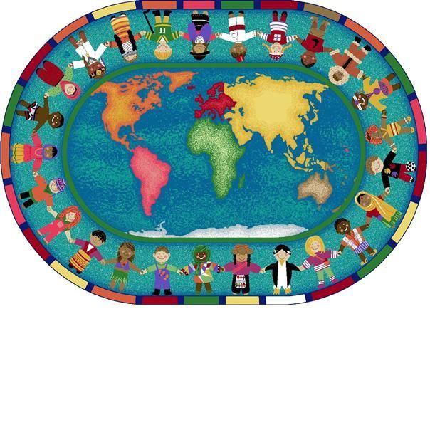 Hands Around The World School Rug 7ft8in X 10ft9in Oval Click And Check Out Our Website To View The Different Classroom Rug Classroom Carpets Unique Rugs