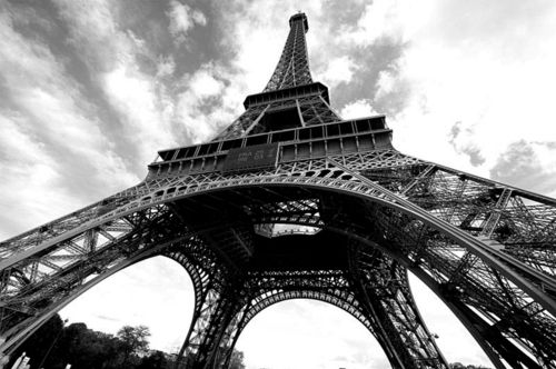 Black and white paris