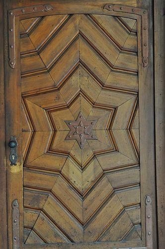 A pretty door in Stuttgart, Baden-Wurttemberg, Germany