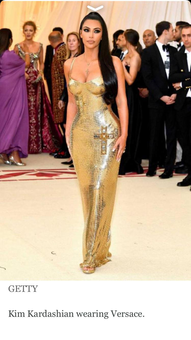 Fabulous versace gown kim kardashian met gala red carpet kim