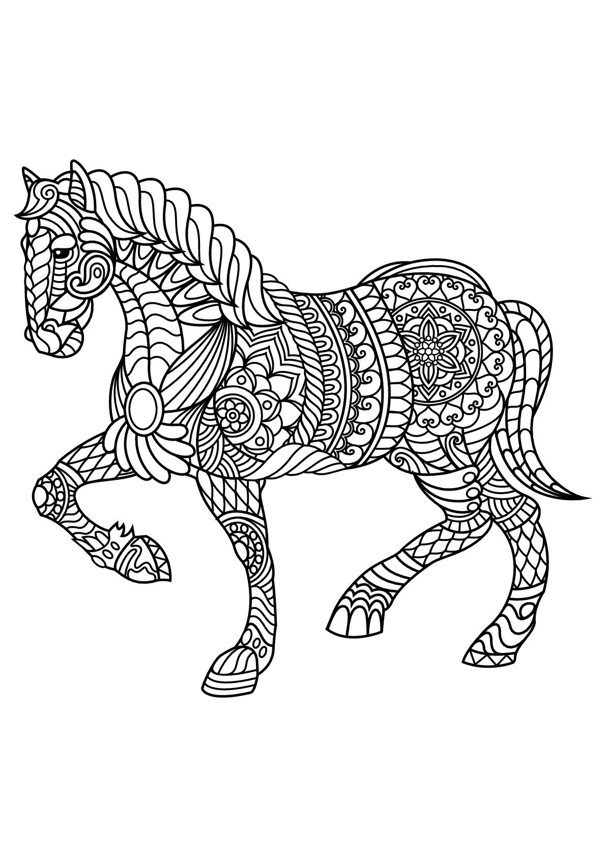 Free book horse | Horses - Coloring pages for adults ...