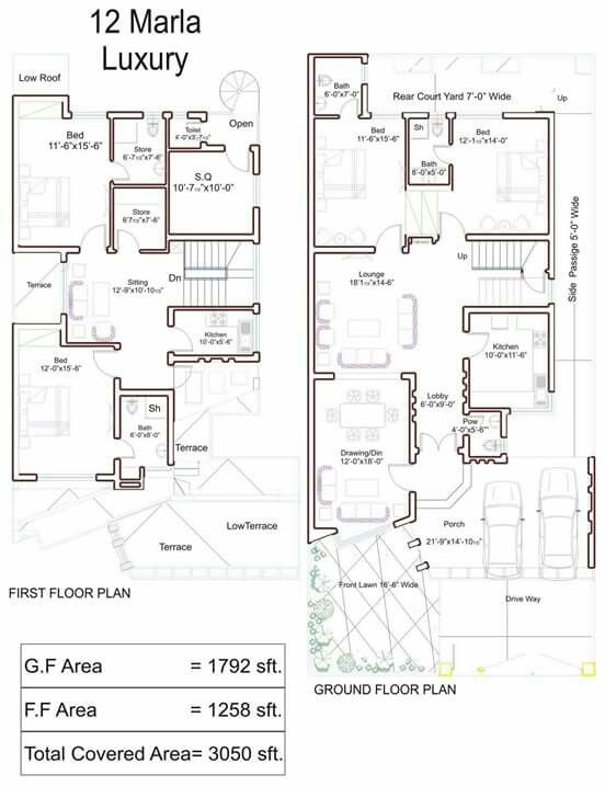Pin By Aish Ch On Pakistan House Plans Model House Plan Luxury House Plans Duplex House Design