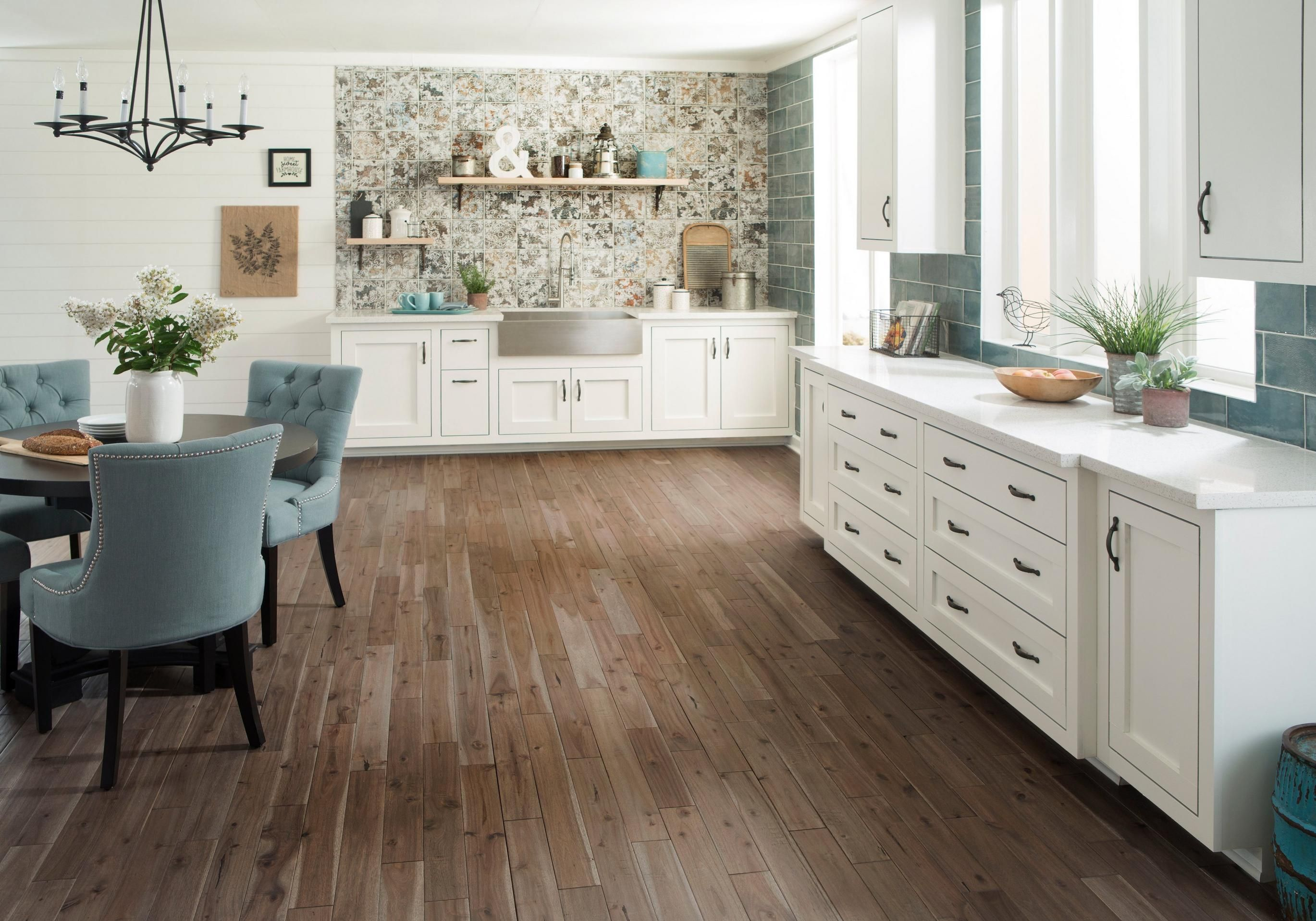 rooms kitchen 26 gray acacia hand scraped solid hardwood ornato aged dark wall tile esenzia on farmhouse kitchen tile floor id=14121