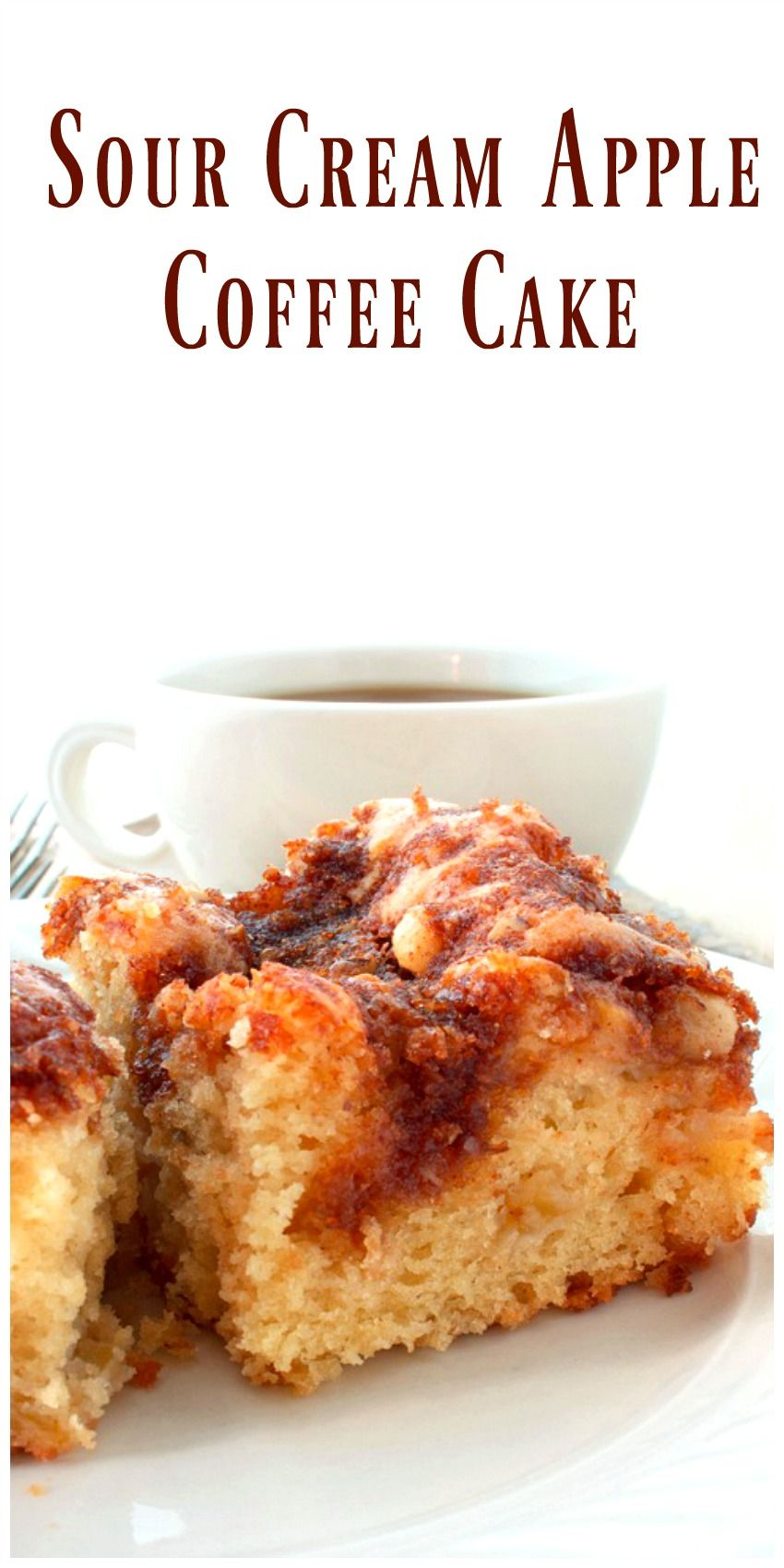 Sour Cream Apple Cake Is Moist With Just The Right Amount Of Topping Perfect With Coffee Or Tea And As Sour Cream Recipes Apple Coffee Cakes Sour Cream Cake