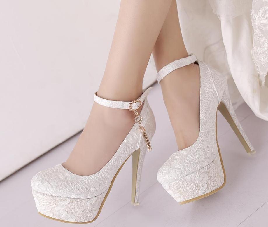 Wedding shoes platform