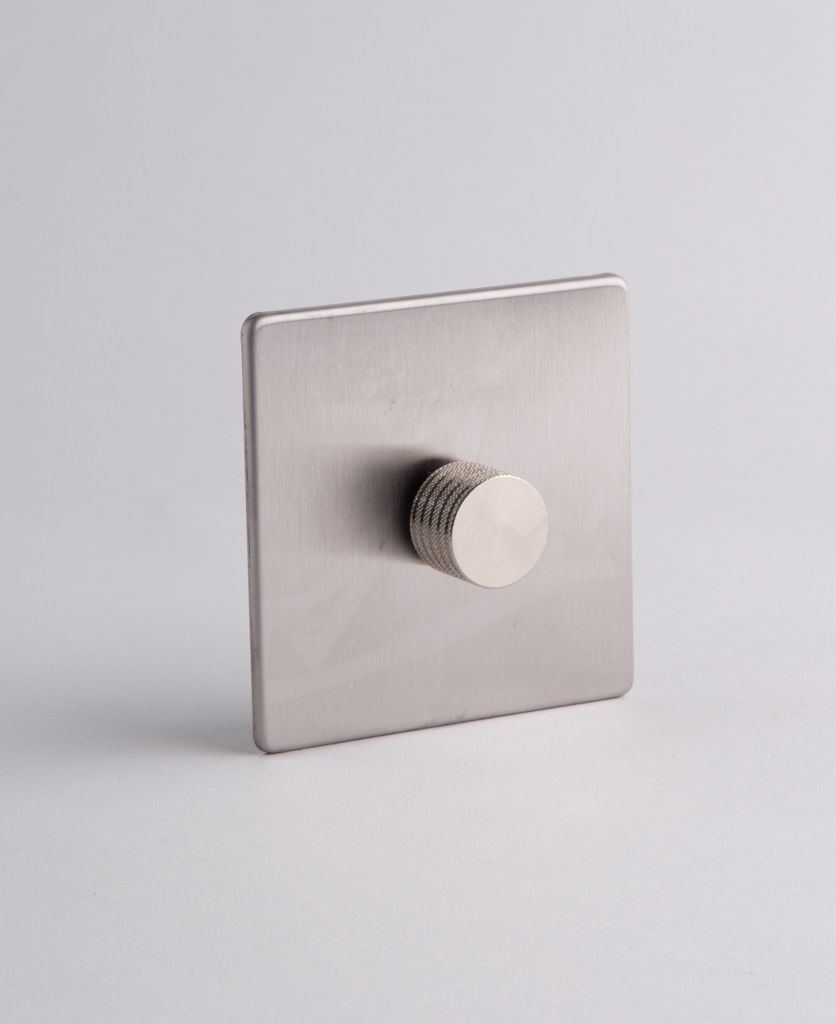 Silver Single Dimmer Switch With Silver Gold Black Or White Dimmer Dimmer Switch Dimmer Light Switch